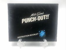 First Print Mike Tyson's Punch Out Nintendo NES Manual Only **No Game**