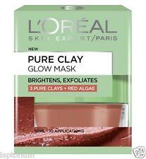 Loreal Paris Pure Clay Glow Mask 50ml, 3 Pure Clays + Red Algae