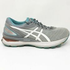 Asics Womens Gel Nimbus 22 1012A587 Gray Running Shoes Lace Up Low Top Size 11
