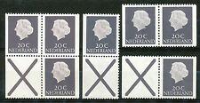 Nederland combinaties 34 - 39 postfris (boekje 6, gewoon papier)