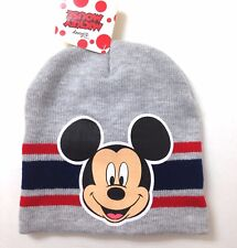 3213d8251fdc60 New MICKEY MOUSE BEANIE Heather-Gray Navy Blue Red Winter Knit Ski Hat Men/