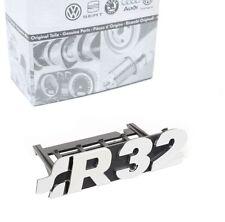 Original VW Golf 4 5 R32 Emblem Schriftzug Grill Kühlergrill Vorne Chrom *NEU*