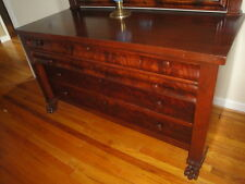 100 YEAR OLD LARGE CLAWFOOT MAHOGANY DRESSER AND MIRROR BIN $600