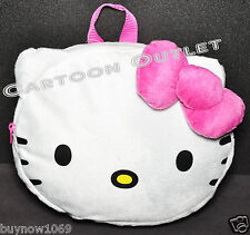 HELLO KITTY PLUSH  BACKPACK FACE GIRLS TOY NWT PINK  BOW CHRISTMAS GIFT STUFFED