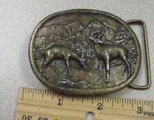 Vintage Deer Belt Buckle Indiana Metal Craft