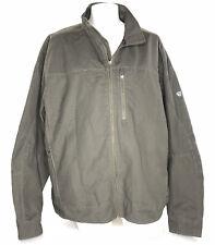 Kuhl Men's Burr Jacket Canvas Full Zip Fleece Lined Gunmetal Size XXXL