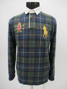 P5524 VTG Polo Ralph Lauren Big Pony Plaid Polo Shirt Size M