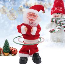 Weihnachtmann Figur Singend Hula Hoop Santa Claus Nikolaus 29 cm