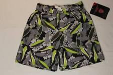 NEW Boys Swim Trunks XS 4 - 5 Bathing Suit Shorts Gray Green Surf Board Beach