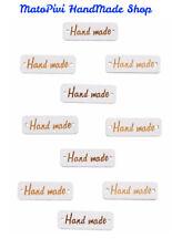 n°10 Bottoni / Targhette in legno -  HandMade - 2 fori - Colore Bianco - 30x10mm