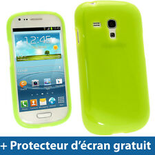 Vert Étui Coque TPU pour Samsung Galaxy S3 III Mini I8190 Android Smartphone