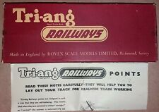 Triang Series 2 Track R.101 Left hand Point - BOX ONLY - Free Postage