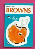 1987 FLEER CLEVELAND BROWNS NFL FOOTBALL STICKERS  NRMT-MT CARD (INV# C3886)