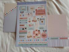 Hunkdory -  Sweet Memories - Die Cut Topper Sheet & 2 Backing Cards