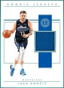 Luka Doncic Rookie Jersey Essentials Rookie Card (panini dunk)
