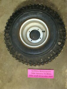 "1984 Yamaha Tri-Moto 200E shaft wheel tire rim oem 25x12-9"" front rear 225 moto4"