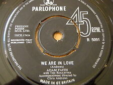 """ADAM FAITH - WE ARE IN LOVE / MADE FOR ME     7"""" VINYL"""