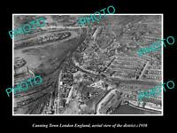 OLD POSTCARD SIZE PHOTO CANNING TOWN LONDON ENGLAND DISTRICT AERIAL VIEW 1930 1