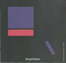 Bang & Olufsen / Beovision MX / Manual BDA Bedienungsanleitung