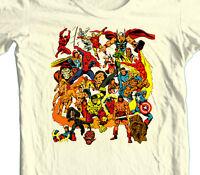 Marvel Comics T-shirt 70's Dr. Strange Capt Marvel 100% cotton graphic  tee