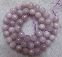 6mm 8mm 10mm 12mm Natural Kunzite Round Loose Beads 15.5""