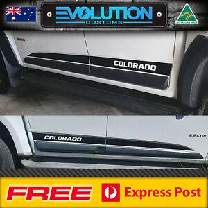 Holden Colorado Side Stripe Decal Sticker Kit SUIT Dual Double Cab 2012 - 2020