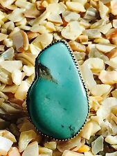 Native American Sterling Silver and real Turquoise Ring,One of a kind