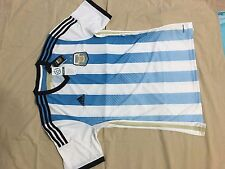 Argentina Home World cup 2014 nice Adidas home Blue Jersey L Brand New with Tags