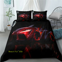 Dark Red Car Single/Double/Queen/King Bed Quilt Doona Duvet Cover Set Pillowcase