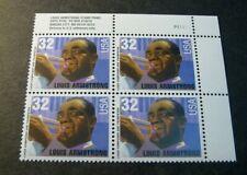 US Plate Blocks Stamp Scott# 2982 Louis Armstrong  1995  MNH L233