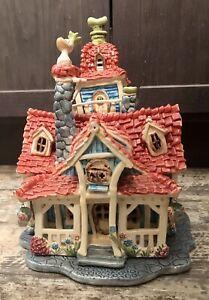 ART OF DISNEY GOOFY'S HOUSE TOONTOWN TEALIGHT HEATHER GOLDMINC XL! GREAT DETAIL!