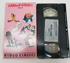 Kartoon Klassics Vol 5 VHS RARE OOP Cult Animation Cartoons 30's 40's