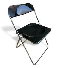 Chair Plia Design Giancarlo Piretti Anonima Castelli Rare Version Total Black