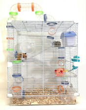 5-Floors Acrylic Clear Syrian Hamsters Rodent Gerbil Mouse Mice Habitat Cage Wt