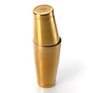 Mercer Barfly Shaker/Tin Set   Gold Plated