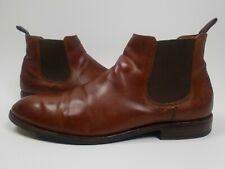 FRYE Leather Chelsea Ankle Boots Mens 11Slip On Brown Cognac