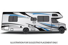 Vinyl Graphics Decal Wrap Kit Large Stripes for Motorhome RV Trailer Camper v.1