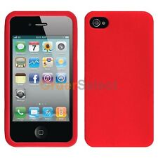 NEW Silicone Soft Slim Rubber Gel Case Skin for Apple iPhone 4 4G 4S Red 50+SOLD