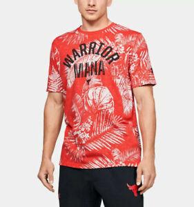 Under Armour Men's Project Rock Aloha Camo Warrior Mana Shirt size XXL 2XL