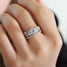 Wedding Engagement Ring Set Size 6 Women Vintage Round Cz 925 Sterling Silver