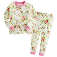 """Vaenait Baby Toddler Kids Girls Clothes Floral Pajama Set """"Iris Pink"""" 12M-7T"""