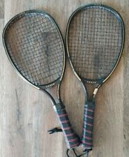 Leach Racketball Racket Vintage 1980's black graphite performer racket set of 2
