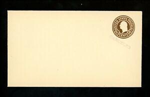 "US Postal Stationery U481 Mint Envelope Entire 1.5c Brown on White "" Canceled """