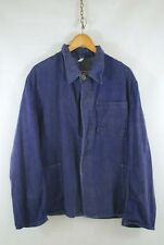 Thick 60s 70s Sanfor French Worker CHORE Jacket - Blue Denim - S M - 40 42 44