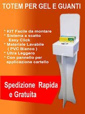 COLONNA TOTEM DISPENSER GEL DISINFETTANTE PVC
