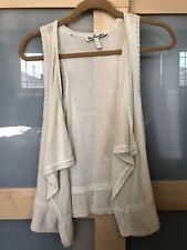 Women's Ivory Crochet Vest - Size Small (S)