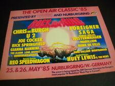 Reo Speedwagon Immaculate Fools Mink De Ville Saga U2 other 1985 Promo Poster Ad