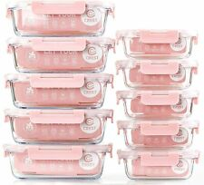 10 Pack Glass Meal Prep Containers Food Storage Containers with Lids Airtight