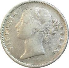 T4255 British India victoria one rupee 1840 silver silver - > make offer