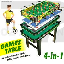 4-in-1 Games Table- Air Hockey / Pool / Foosball / Table Tennis